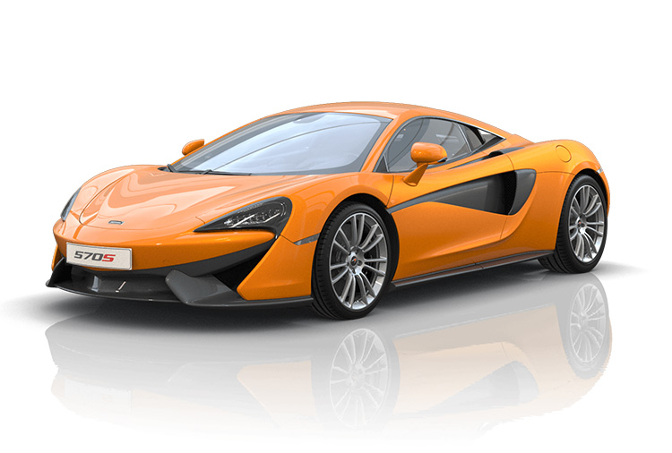 New McLaren 570S Coupe at Grange