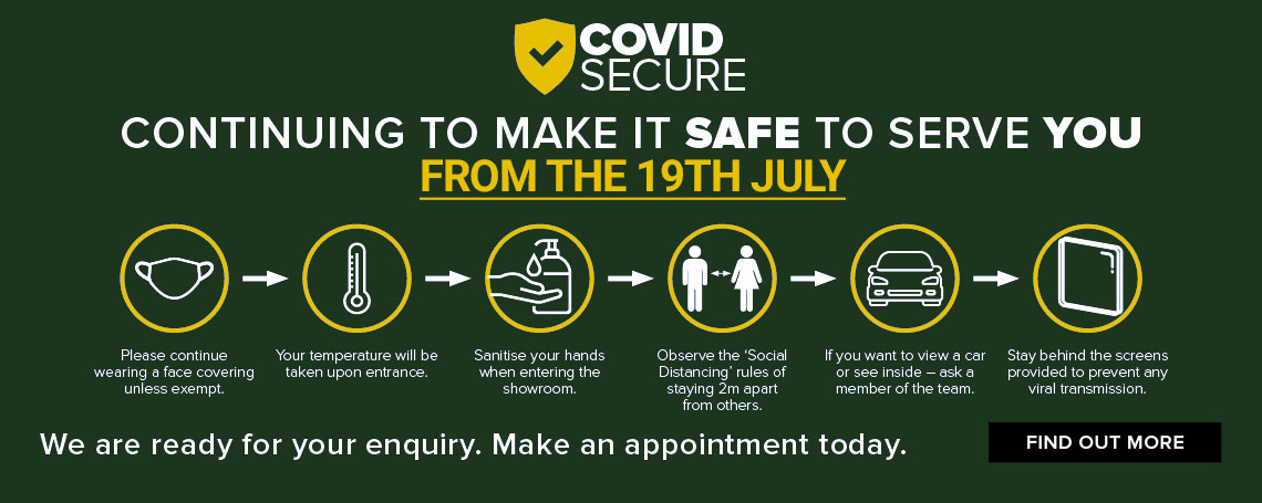 COVID-SECURE: Making it safe to serve you at our car dealerships