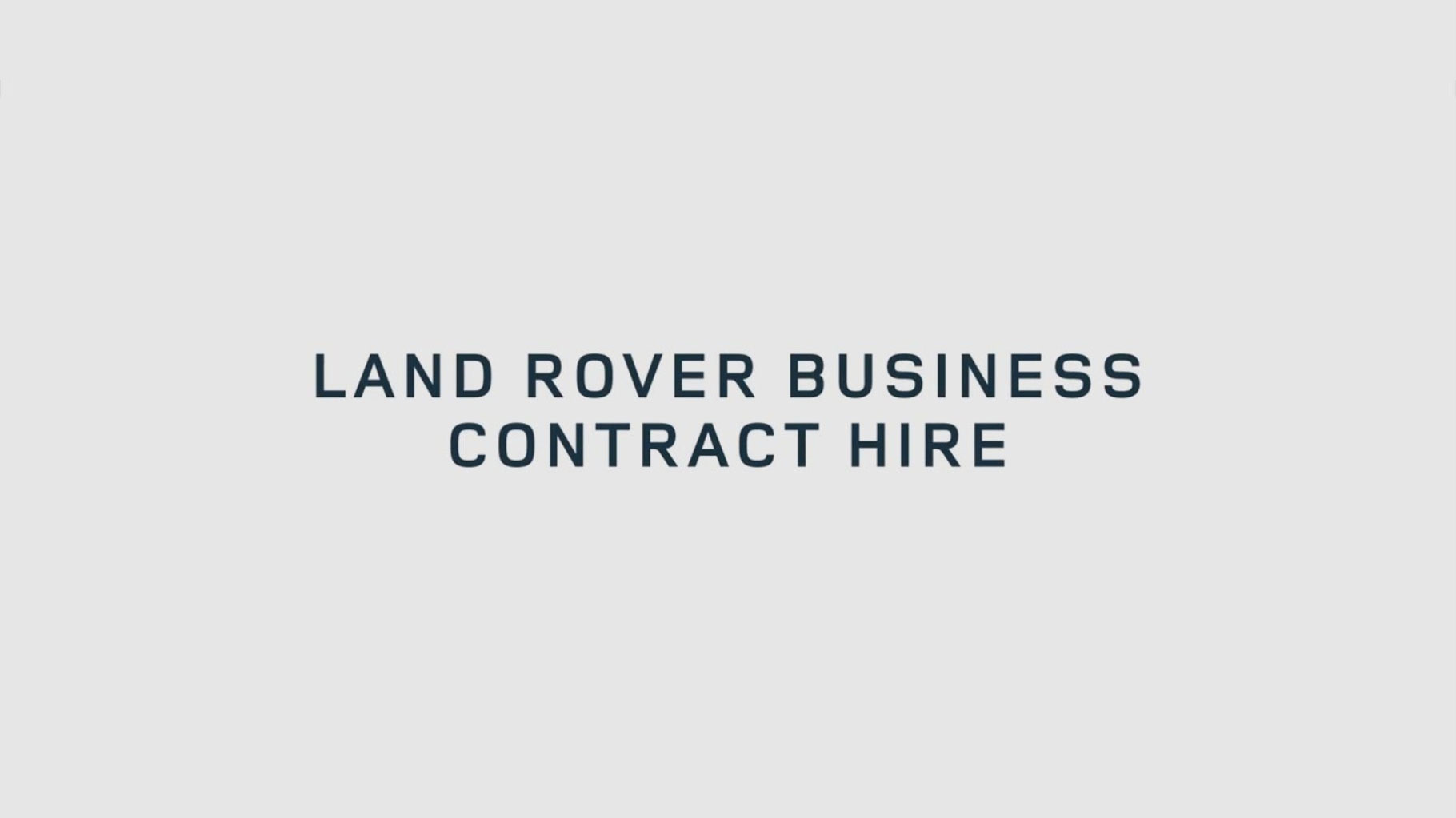 Land Rover Business Contract Hire at Grange Land Rover