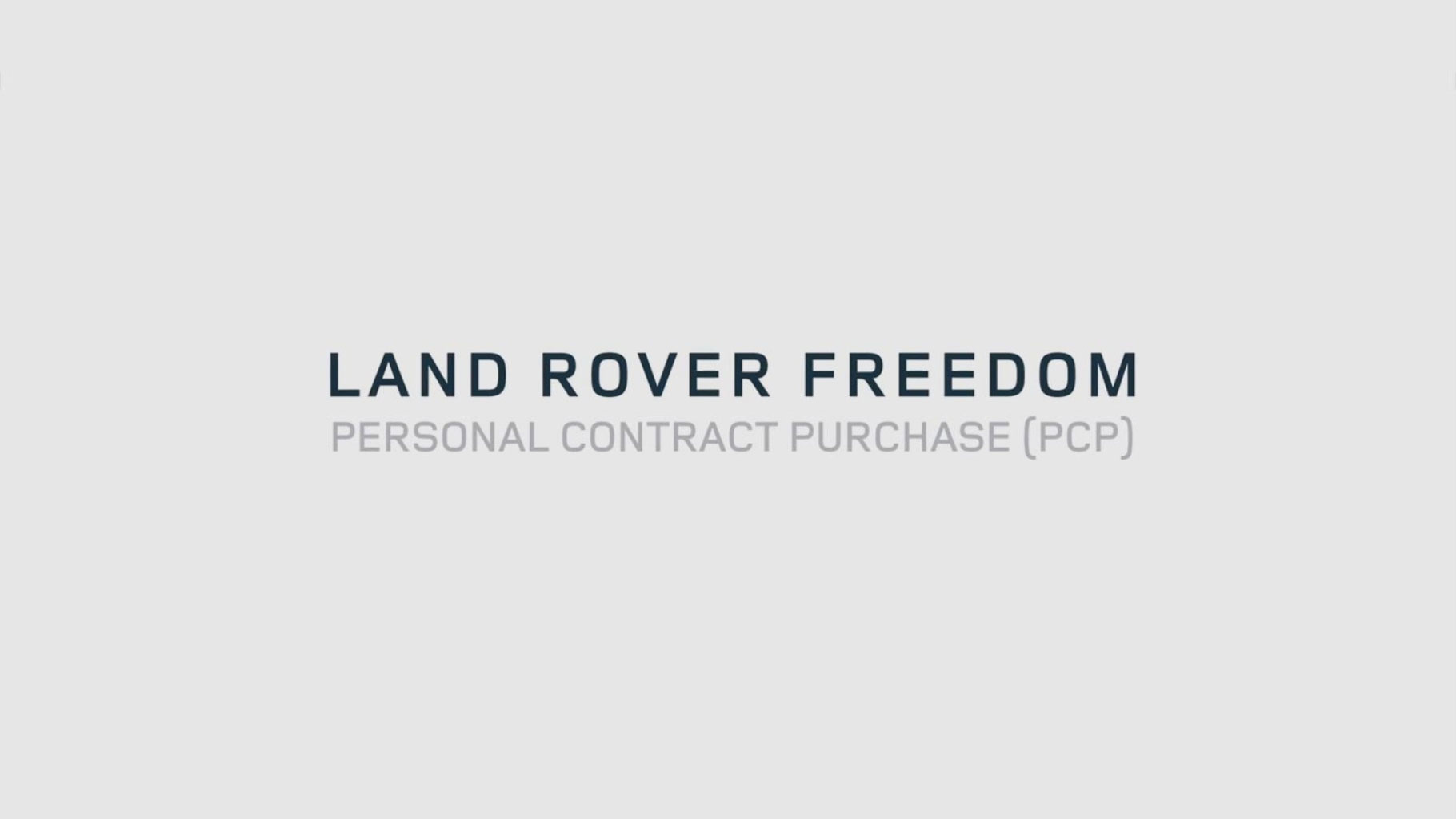 Land Rover Freedom Personal Contract Purchase at Grange Jaguar