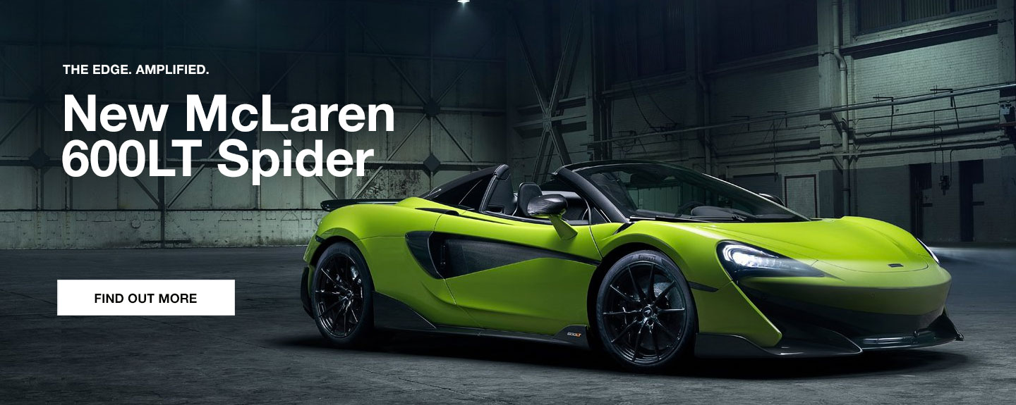 New McLaren 600LT Spider at Grange McLaren Hatfield